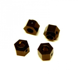 CNC Machined Brass +3mm offset Hex Adapters (4 pcs) TRX-4 (Black)