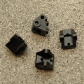 CNC Machined Brass Lower Shock/Suspension Link Mount (4 pcs) Black