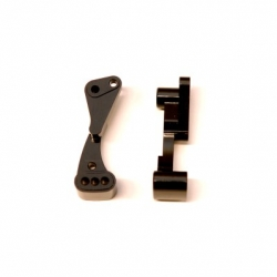 CNC Machined Aluminum Front Hinge-pin brace for Associated DR10 (Black)