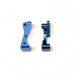 CNC Machined Aluminum Front Hinge-pin brace for Associated DR10 (Blue)