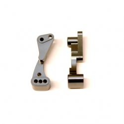 CNC Machined Aluminum Front Hinge-pin brace for Associated DR10 (GM)