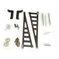 STRC CNC Machined Aluminum Wheelie bar kit for Associated DR10 (Black)