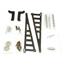 STRC CNC Machined Aluminum Wheelie bar kit for Associated DR10 (Black)