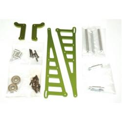 STRC CNC Machined Aluminum Wheelie bar kit for Associated DR10 (Green)