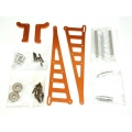 STRC CNC Machined Aluminum Wheelie bar kit for Associated DR10 (Orange)