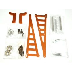 STRC CNC Machined Aluminum Wheelie bar kit for Associated DR10 (Orange)