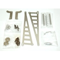 STRC CNC Machined Aluminum Wheelie bar kit for Associated DR10 (Silver)