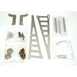 STRC CNC Machined Aluminum Wheelie bar kit for Associated DR10 (Silver)