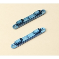 CNC Machined Aluminum 0 degree & 1 degree Rear Toe-In Suspension Block Combo set for DR10 (B)