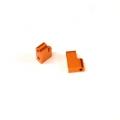 CNC Machined Aluminum Steering Servo Mount (1 pair) for Associated DR10 (Orange)