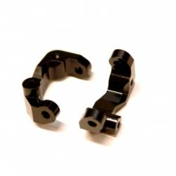 CNC Machined Aluminum Caster Blocks (1 pair) for Associated DR10 (Black)