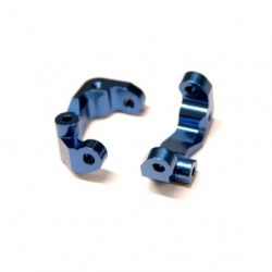 CNC Machined Aluminum Caster Blocks (1 pair) for Associated DR10 (Blue)