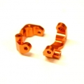 CNC Machined Aluminum Caster Blocks (1 pair) for Associated DR10 (Orange)