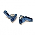 CNC Machined Aluminum Steering Knuckles (1 pair) for Associated DR10 (Blue)