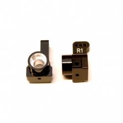 CNC Machined Aluminum Rear Hub Carriers 1 deg. Toe-in (1 pair) for Associated DR10 (BK)