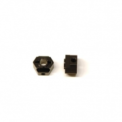 CNC Machined Aluminum Rear Hex Adapters (1 pair) for Associated DR10 (BK)