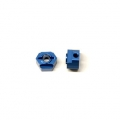 CNC Machined Aluminum Rear Hex Adapters (1 pair) for Associated DR10 (B)