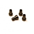 CNC Machined Aluminum Upper shock mount bushing (4 pcs) for Associated DR10 (BK)