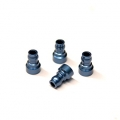 CNC Machined Aluminum Upper shock mount bushing (4 pcs) for Associated DR10 (B)