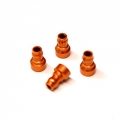 CNC Machined Aluminum Upper shock mount bushing (4 pcs) for Associated DR10 (O)