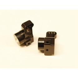 CNC Machined Aluminum Rear Hub Carriers 0 deg. Toe-in (1 pair) for Associated DR10 (BK)