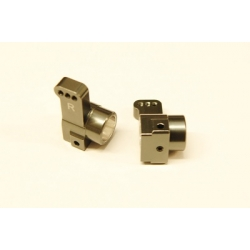 CNC Machined Aluminum Rear Hub Carriers 0 deg. Toe-in (1 pair) for Associated DR10 (GM)