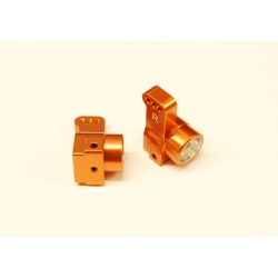 CNC Machined Aluminum Rear Hub Carriers 0 deg. Toe-in (1 pair) for Associated DR10 (Orange)
