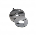 STRC CNC Machined Alum. Heat Sink Motor Plate DEX210/ST/SC (Black)