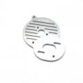 STRC CNC Machined Alum. Heat Sink Motor Plate DEX210/ST/SC (Gun Metal)