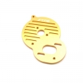 STRC CNC Machined Alum. Heat Sink Motor Plate DEX210/ST/SC (Gold)