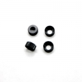STRC CNC Machined Alum. Lower Shock Caps (4pcs) DEX210/ST/SC (Black)