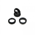 STRC CNC Machined Alum. Shock Collars (4 pcs) DEX210/ST/SC (Black)