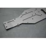 STRC CNC Machined 4mm aluminum lower chassis for Axial EXO Buggy (hard anodized)