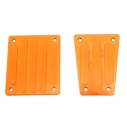 CNC Machined Aluminum Front and Rear Skid Plates for EXO Buggy (Orange)