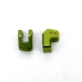 CNC Machined Alum. HD Rear Lower Shock Mounts (1 pair) for EXO Buggy (Green)