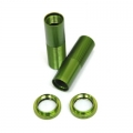 CNC Machined Alum. Front Threaded Shock Bodies w/Collar for EXO Buggy (Green)