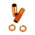 CNC Machined Alum. Front Threaded Shock Bodies w/Collar for EXO Buggy (Orange)