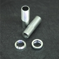CNC Machined Alum. Front Threaded Shock Bodies w/Collar for EXO Buggy (Silver)