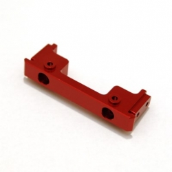CNC Machined Aluminum Heavy Duty Front Bumper mount for Associated Enduro (Red, Limited)