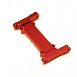 CNC Machined Aluminum Heavy Duty Battery Tray Mount/Front chassis brace for Element Enduro (Red)