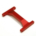 CNC Machined Aluminum Heavy Duty Rear Chassis Brace Associated Enduro (Red, Limited)
