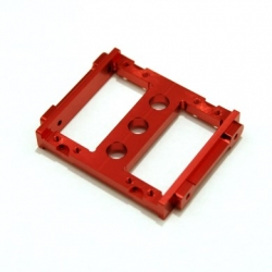 CNC Machined Aluminum Heavy Duty Servo Mount Tray for Associated Enduro (Red, Limited)