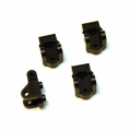 CNC Machined Brass Lower Shock/Lower Link mount for Elemend Enduro 4 pcs (black)