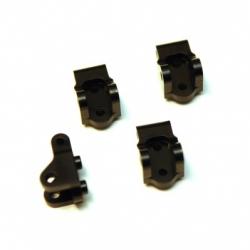 CNC Machined Brass Lower Shock/Lower Link mount for Elemend Enduro 4 pcs (black)