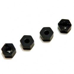CNC Machined Aluminum 6.5mm Hex Adapters for Associated Enduro (Black)
