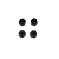 CNC Machined Brass 6.5mm Hex Adapters for Associated Enduro (Black)