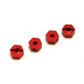 CNC Machined Aluminum 6.5mm Hex Adapters for Associated Enduro (Red, Limited)