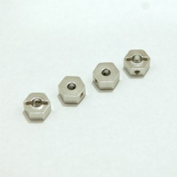 CNC Machined Aluminum 6.5mm Hex Adapters for Associated Enduro (Silver)