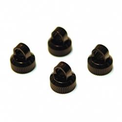 CNC Machined Aluminum upper shock caps for Element Enduro 4pcs (Black)