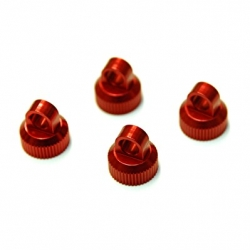 CNC Machined Aluminum upper shock caps for Element Enduro 4pcs (Red)